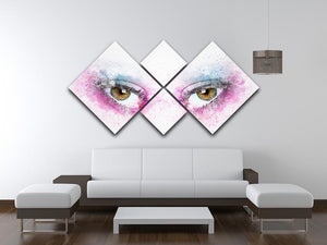 Eye Painting 4 Square Multi Panel Canvas - Canvas Art Rocks - 3