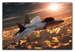 F22 Fighter Jet at Sunset Canvas Print or Poster  - Canvas Art Rocks - 1