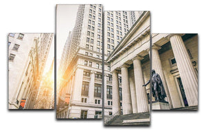 Facade of the Federal Hall 4 Split Panel Canvas  - Canvas Art Rocks - 1