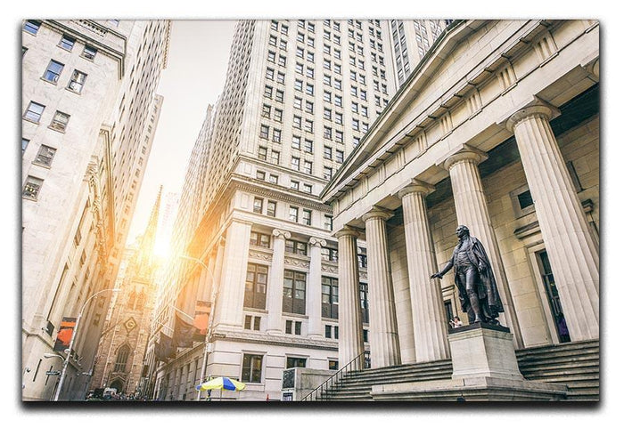 Facade of the Federal Hall Canvas Print or Poster