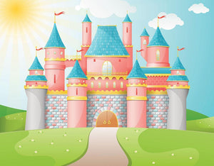 FairyTale castle illustration Wall Mural Wallpaper - Canvas Art Rocks - 1
