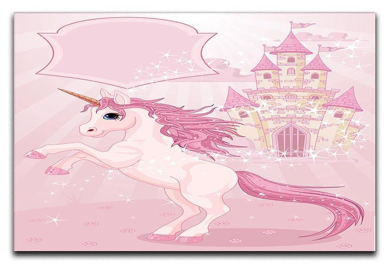 Fairy Tale Castle and Unicorn Canvas Print or Poster  - Canvas Art Rocks - 1