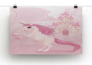 Fairy Tale Castle and Unicorn Canvas Print or Poster - Canvas Art Rocks - 2