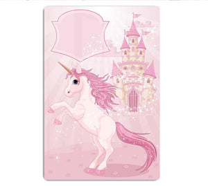 Fairy Tale Castle and Unicorn HD Metal Print