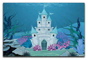 Fairy Tale Mermaid Princess Castle Canvas Print or Poster  - Canvas Art Rocks - 1