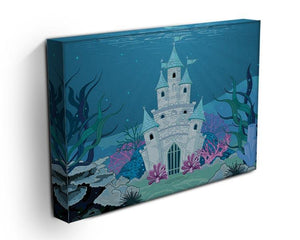 Fairy Tale Mermaid Princess Castle Canvas Print or Poster - Canvas Art Rocks - 3