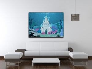 Fairy Tale Mermaid Princess Castle Canvas Print or Poster - Canvas Art Rocks - 4