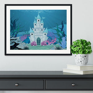 Fairy Tale Mermaid Princess Castle Framed Print - Canvas Art Rocks - 1