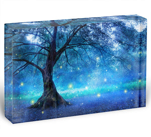 Fairy Tree In Mystic Forest Acrylic Block - Canvas Art Rocks - 1