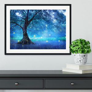 Fairy Tree In Mystic Forest Framed Print - Canvas Art Rocks - 1