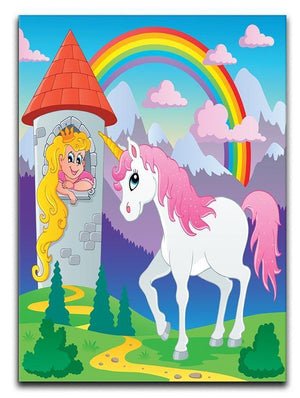 Fairy tale unicorn Canvas Print or Poster  - Canvas Art Rocks - 1