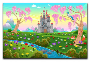 Fairytale scenery with castle Canvas Print or Poster  - Canvas Art Rocks - 1