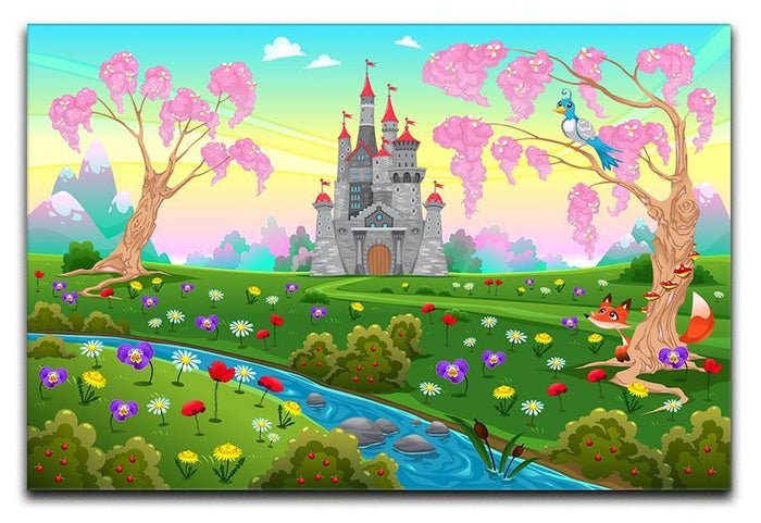 Fairytale scenery with castle Canvas Print or Poster