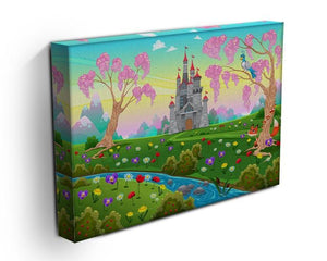 Fairytale scenery with castle Canvas Print or Poster - Canvas Art Rocks - 3