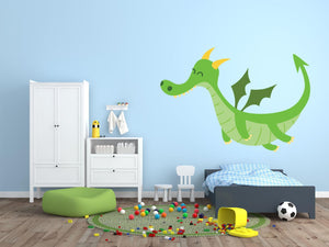 Fantasy Dragon Wall Decal - Canvas Art Rocks - 1