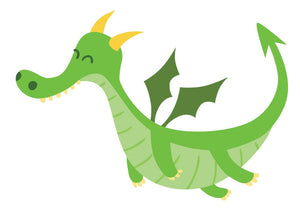 Fantasy Dragon Wall Decal - Canvas Art Rocks - 3