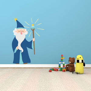 Fantasy Wizard Wall Decal - Canvas Art Rocks - 1