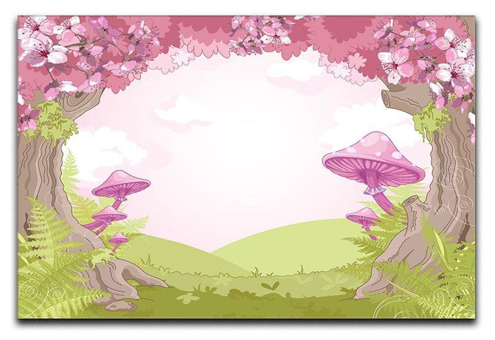 Fantasy landscape with mushrooms Canvas Print or Poster