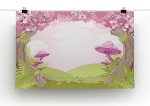 Fantasy landscape with mushrooms Canvas Print or Poster - Canvas Art Rocks - 2