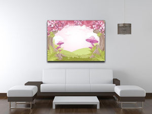 Fantasy landscape with mushrooms Canvas Print or Poster - Canvas Art Rocks - 4