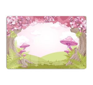 Fantasy landscape with mushrooms HD Metal Print
