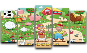 Farm Family 5 Split Panel Canvas - Canvas Art Rocks - 1