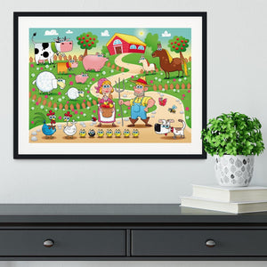 Farm Family Framed Print - Canvas Art Rocks - 1