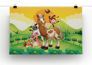 Farm animals in the field Canvas Print or Poster - Canvas Art Rocks - 2