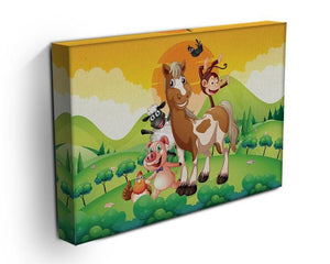Farm animals in the field Canvas Print or Poster - Canvas Art Rocks - 3