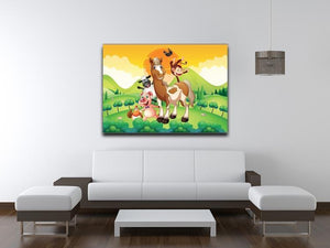 Farm animals in the field Canvas Print or Poster - Canvas Art Rocks - 4