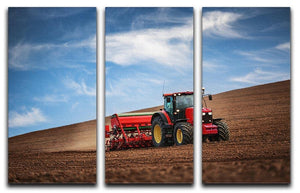 Farmer in tractor 3 Split Panel Canvas Print - Canvas Art Rocks - 1