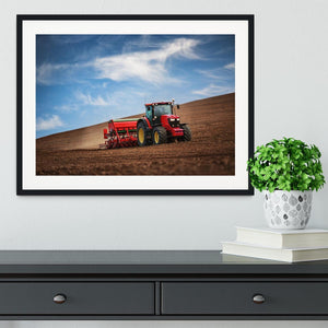 Farmer in tractor Framed Print - Canvas Art Rocks - 1