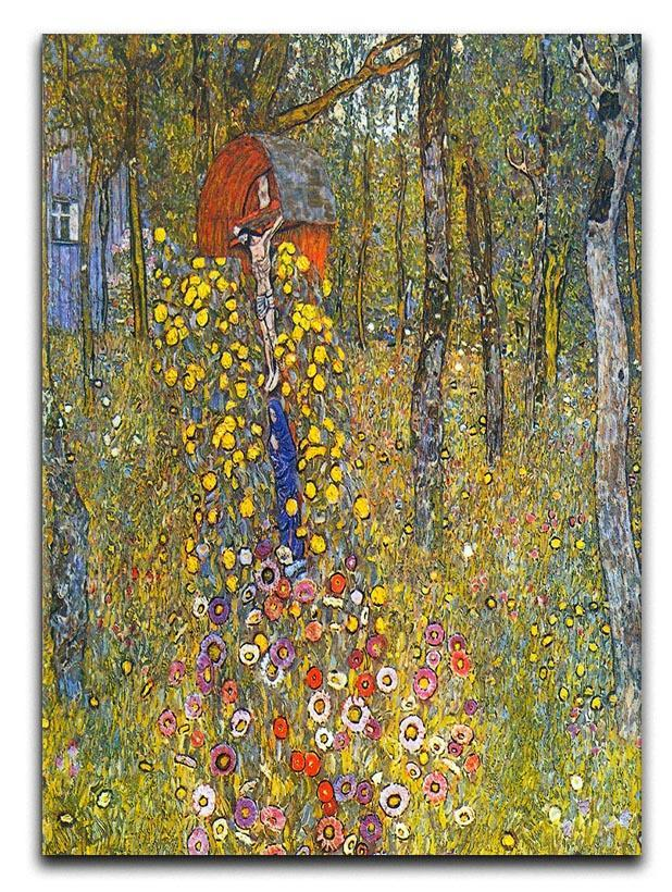 Farmers garden with crucifix by Klimt Canvas Print or Poster  - Canvas Art Rocks - 1