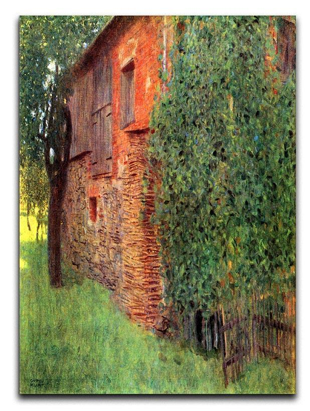 Farmhouse in Chamber in Attersee by Klimt Canvas Print or Poster  - Canvas Art Rocks - 1