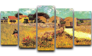 Farmhouse in Provence by Van Gogh 5 Split Panel Canvas  - Canvas Art Rocks - 1