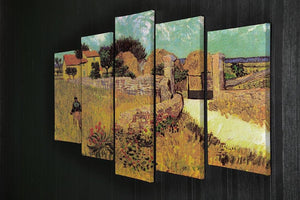 Farmhouse in Provence by Van Gogh 5 Split Panel Canvas - Canvas Art Rocks - 2
