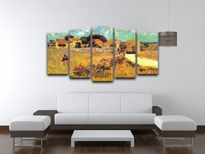 Farmhouse in Provence by Van Gogh 5 Split Panel Canvas - Canvas Art Rocks - 3
