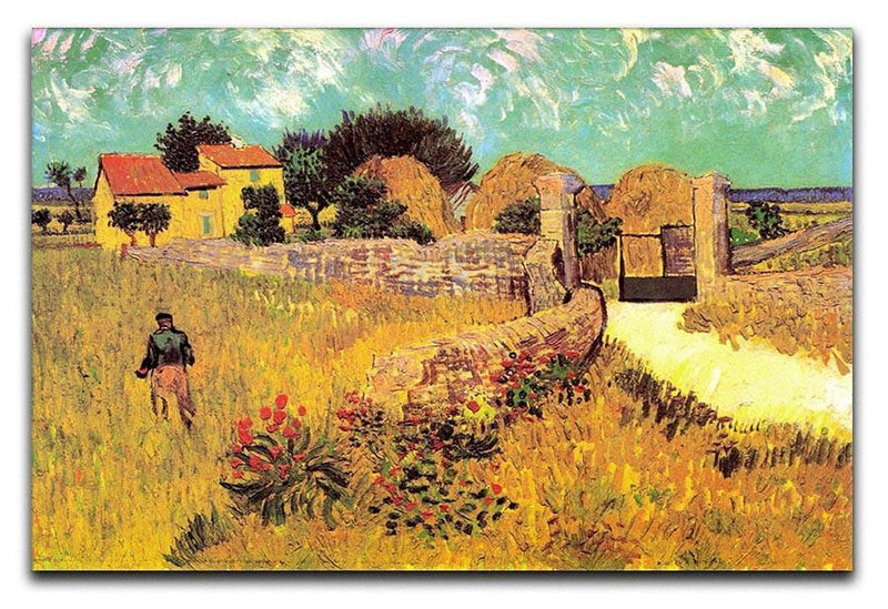 Farmhouse in Provence by Van Gogh Canvas Print & Poster  - Canvas Art Rocks - 1