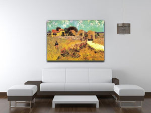 Farmhouse in Provence by Van Gogh Canvas Print & Poster - Canvas Art Rocks - 4