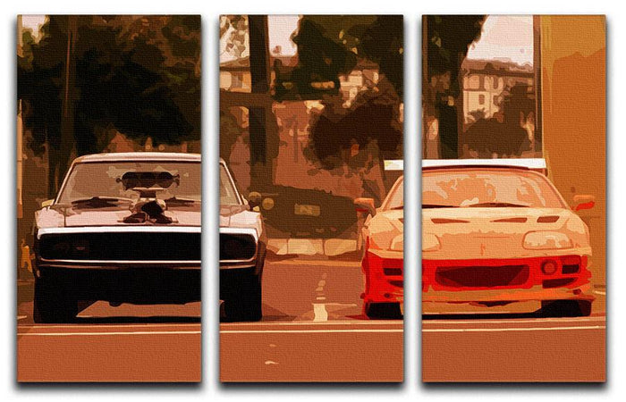 Fast and Furious 3 Split Panel Canvas Print