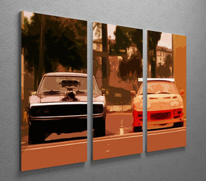 Fast and Furious 3 Split Panel Canvas Print - Canvas Art Rocks