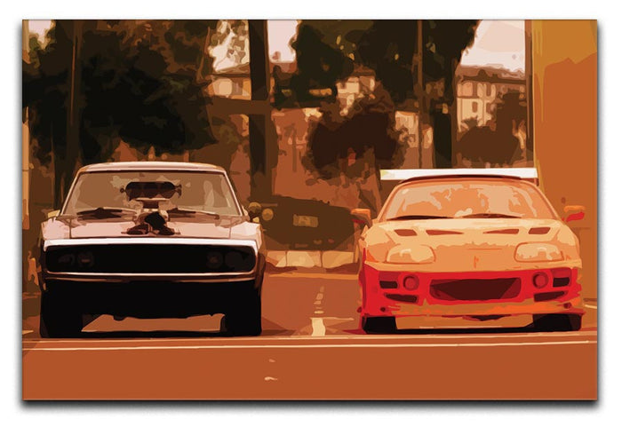 Fast and Furious Canvas Print or Poster