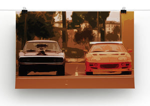 Fast and Furious Print - Canvas Art Rocks - 2