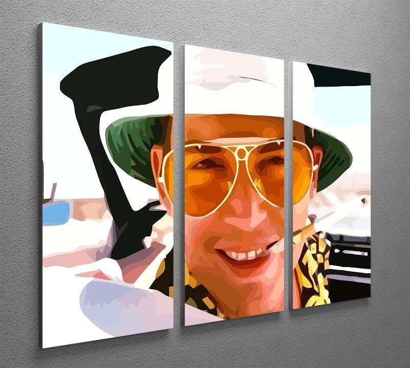 94b356776444 ... Fear and Loathing in Las Vegas Close Up 3 Split Panel Canvas Print - Canvas  Art ...