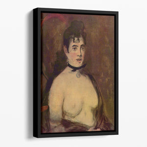 Female act by Manet Floating Framed Canvas