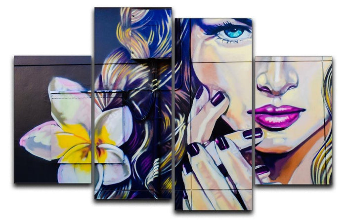 Femme Fatale Graffiti 4 Split Panel Canvas