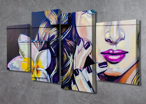 Femme Fatale Graffiti 4 Split Panel Canvas - Canvas Art Rocks - 2