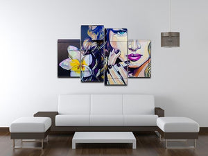 Femme Fatale Graffiti 4 Split Panel Canvas - Canvas Art Rocks - 3