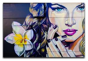 Femme Fatale Graffiti Canvas Print or Poster  - Canvas Art Rocks - 1