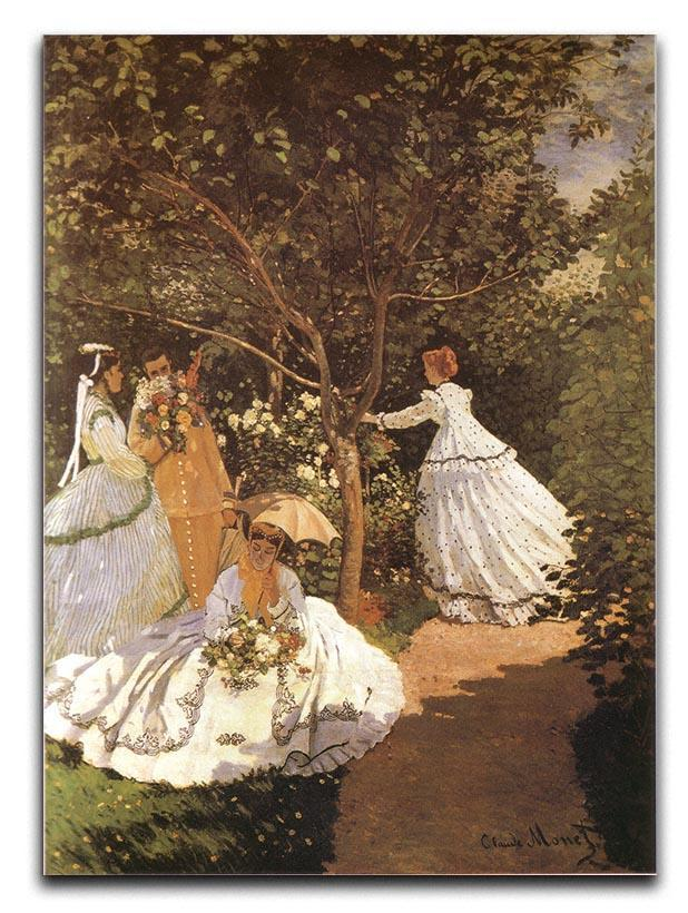 Femmes au jardin 1867 by Monet Canvas Print or Poster